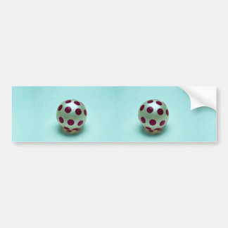 Polka dot ball toy for kids bumper stickers