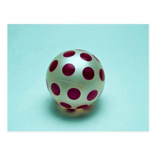Polka dot ball toy for kids postcard