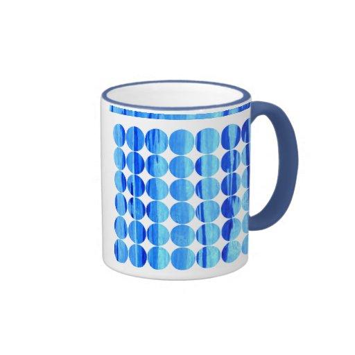 Polka Dot Bamboo Ringer Coffee Mug