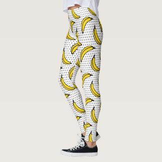 Polka Dot Banana Print Leggings