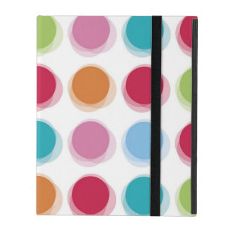 Polka Dot Bath Towels Pattern iPad Case