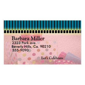 Polka Dot Bday Gifts Set Double-Sided Standard Business Cards (Pack Of 100)