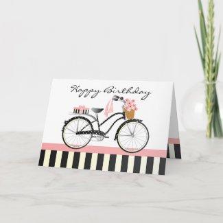 Polka Dot Bicycle zazzle_card