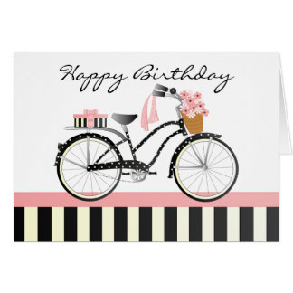 Polka Dot Bicycle Card