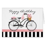 Polka Dot Bicycle-no yellow gradient Card