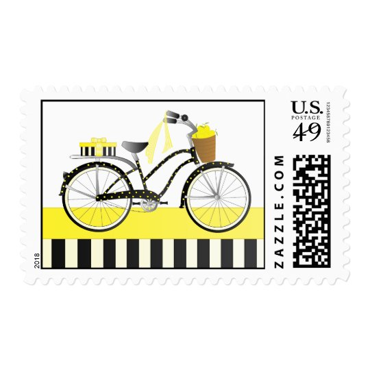 Polka Dot Bicycle Postage