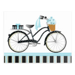 Polka Dot Bicycle Postcard