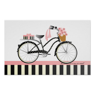 Polka Dot Bicycle Poster