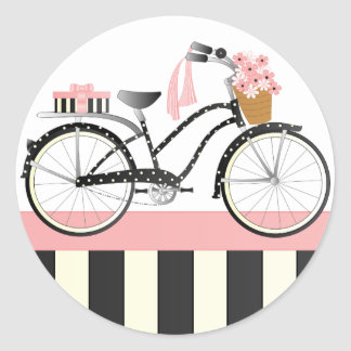 Polka Dot Bicycle Stickers