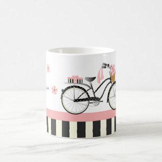 Polka Dot Bike Classic White Coffee Mug