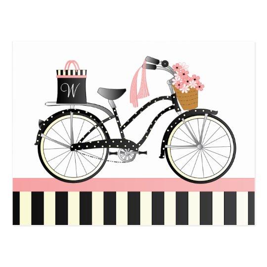 Polka Dot Bike Postcard