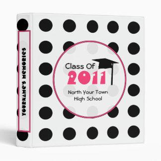 Polka Dot Binder - Senior 2011 Graduation