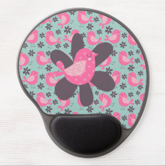 Polka Dot Birds and Flowers Gel Mouse Pad