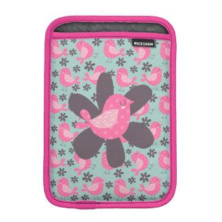 Polka Dot Birds and Flowers iPad Mini Sleeve