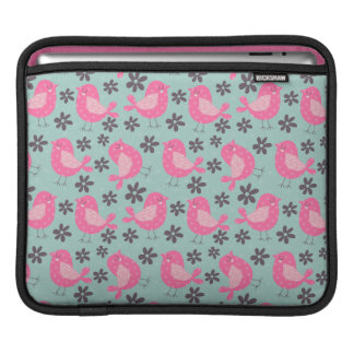 Polka Dot Birds and Flowers Sleeve For iPads