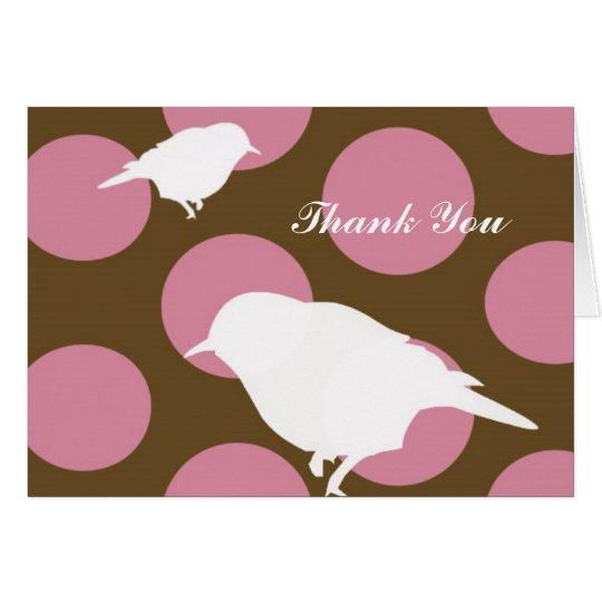 Polka Dot Birds, Thank You Card