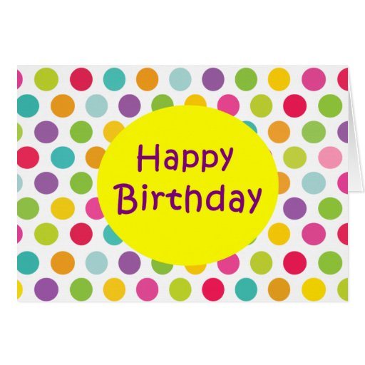Polka Dot Birthday Cards
