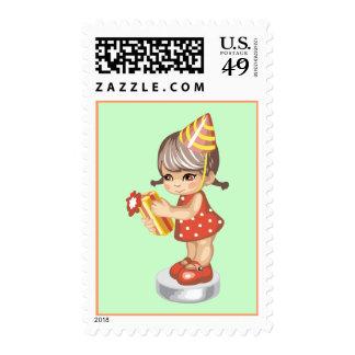 Polka Dot Birthday Stamps