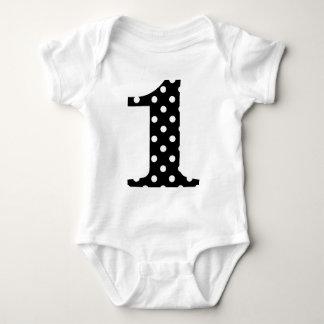 Polka Dot Black and White One Baby Bodysuit