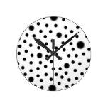 Polka Dot Black Wall Clocks