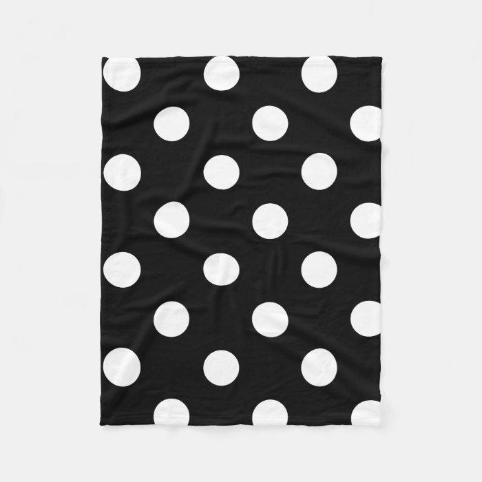 Polka Dot Black Amp White Fleece Throw Blanket Zazzle
