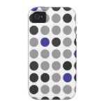 Polka Dot Blue and Gray iPhone 4 Case