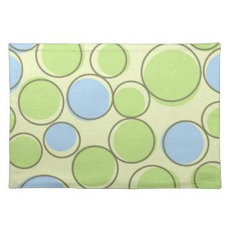 Polka Dot Blue Green Placemats
