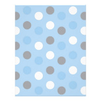 Polka Dot Blue Grey Baby Scrapbook Paper