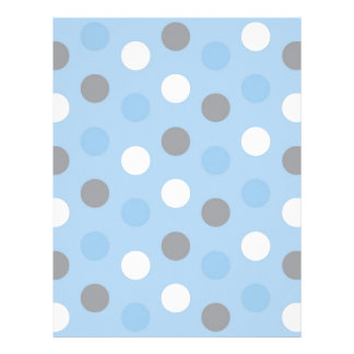 Polka Dot Blue Grey Baby Scrapbook Paper Letterhead