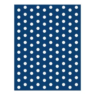 Polka Dot Blue White Baby Scrapbook Paper Letterhead