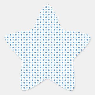 Polka Dot Blues Star Sticker