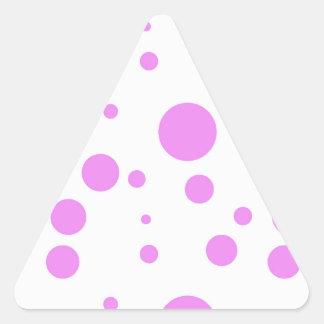 Polka-Dot Bonanza Triangle Sticker