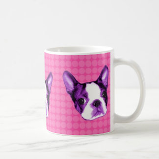 Polka Dot Boston Terrier Puppy Mug