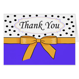 Polka Dot Bow Thank You Card