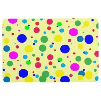 Polka Dot Bubble Balloon Colors Floor Mat