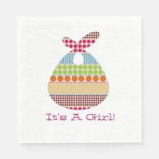 Polka Dot Bundle Girl Baby Shower Standard Luncheon Napkin