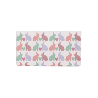 Polka Dot Bunnies Checkbook Cover