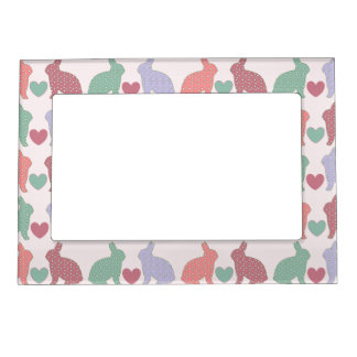 Polka Dot Bunnies Magnetic Photo Frame