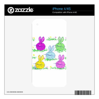 Polka dot bunnies skins for iPhone 4S