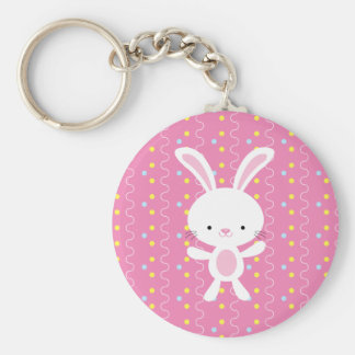 Polka Dot Bunny Keychain