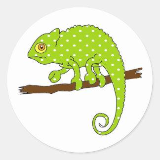 Polka Dot Chameleon Stickers