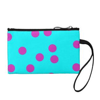 polka dot change purse