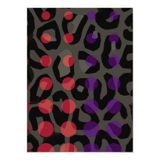 Polka-dot Cheetah Card