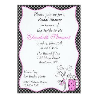 Polka Dot Chic Bridal Shower 5x7 Paper Invitation Card