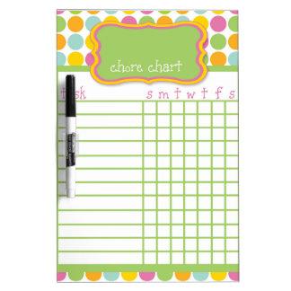 Polka Dot Chore Chart Dry Erase Board