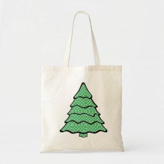 Polka Dot Christmas Tree Budget Tote Bag
