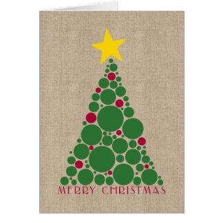 Polka Dot Christmas Tree Greeting Stationery Note Card