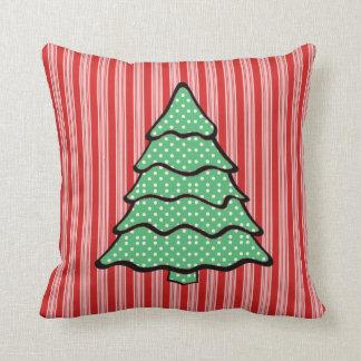 Polka Dot Christmas Tree V3 Throw Pillow
