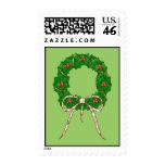 Polka Dot Christmas Wreath Stamps