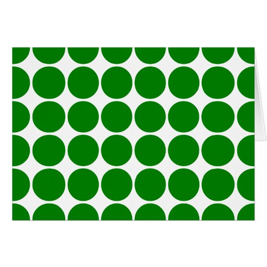 Polka Dot Circles & Spots : Green Polka Dots Card